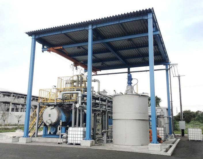 11月20日、アミタ(株)のリサイクル施設「北九州循環資源製造所」にて シリコンスラリー廃液のリサイクル事業を開始しました!
