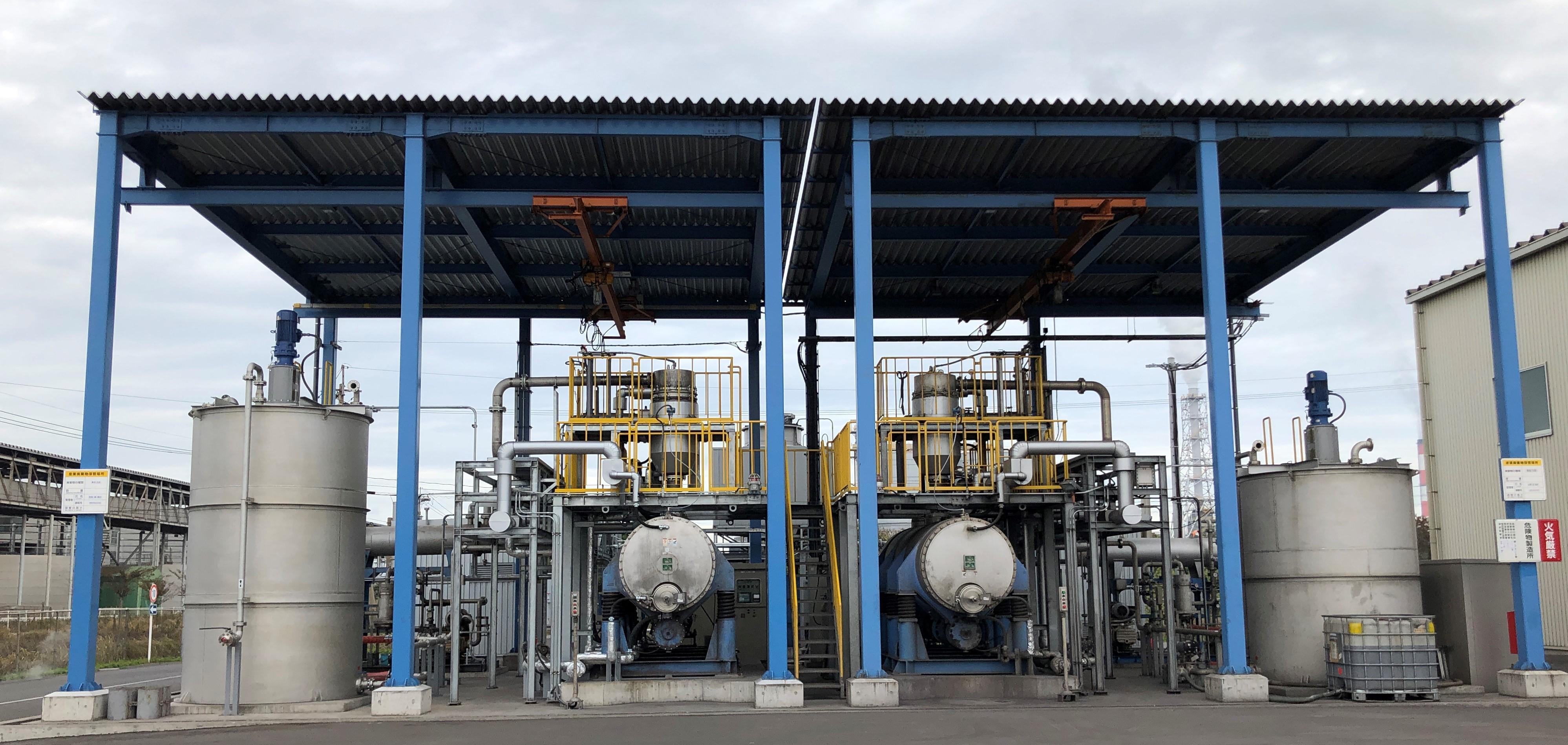 アミタ(株)の北九州循環資源製造所にシリコンスラリー廃液のリサイクル設備を追加投入。12月より本格的に稼働開始!
